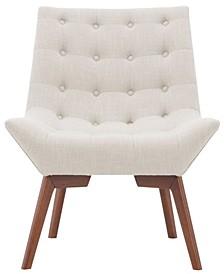 Sambar Tufted Linen Accent Chair