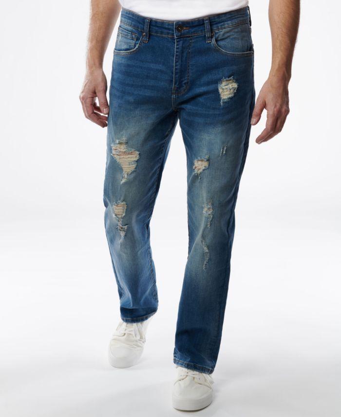 Lazer Men's Straight-Fit Stretch Jeans & Reviews - Jeans - Men - Macy's