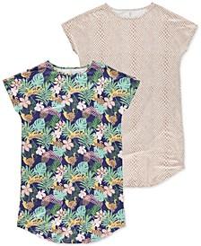 Women's Short Sleeve Sleepshirts, Pack of 2