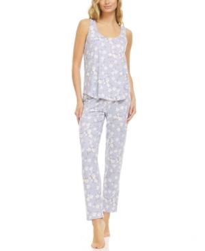 Lace-Trim Tank Top Pajama Set