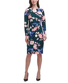 Floral-Print Bodycon Midi Dress