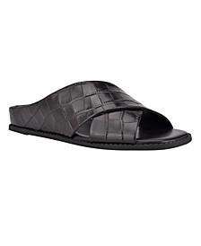 Martha Stewart x Women's Olive Slip-On Sandals