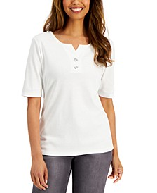 Cotton Toggle-Button Top, Created for Macy's