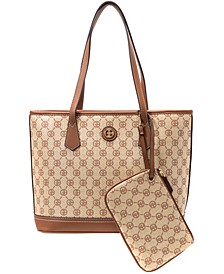 Signature Straw Tote with Wristlet, Created for Macy's