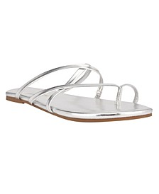 Women's Brice Strappy Toe Ring Flat Sandals