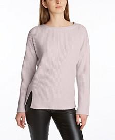 Women's Side Slit Long Sleeve Sweater