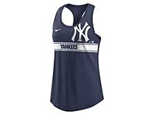 Women's New York Yankees Cropped Logo Racer Tank