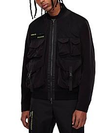 Nylon Utility Front Pockets Jacket
