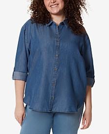 Plus Size Amanda Button-Up Shirt