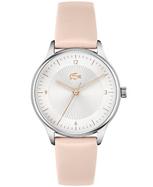 Women's Club Nude Leather Strap Watch 34mm
