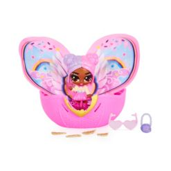 Hatchimals Pixies, Wilder Wings Pixie with Fabric Wings and 2 Accessories