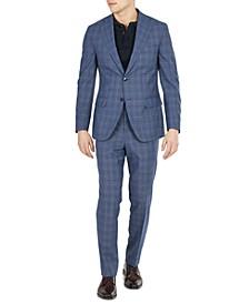 Men's Slim-Fit Plaid Suit Separates