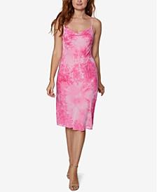 Tie-Dyed Slip Midi Dress