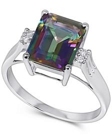 Mystic Topaz (3-3/4 ct. t.w.) & Diamond Accent Ring in 14k White Gold