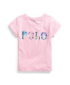Big Girls Floral-Logo Jersey T-shirt