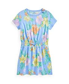 Toddler Girls Floral Jersey T-shirt Dress