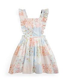 Little Girls Patchwork Poplin Dress