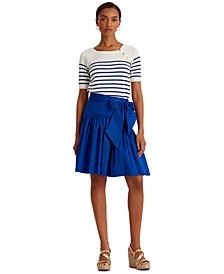 Petite Stretch Cotton A-Line Skirt