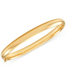 Polished Bangle Bracelet in 14k Gold