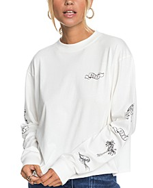 Fly Over The World Cotton Graphic T-Shirt