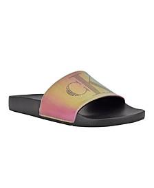 Women's April Metalic Pool Slides