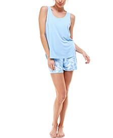 Printed Tank Top & Shorts Loungewear Set