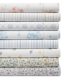 Printed 100% Egyptian Cotton Percale 400 Thread Count Sheet Sets, Created for Macy's