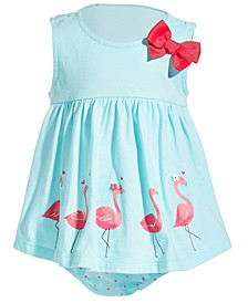 Baby Girls Flamingo Cotton Sunsuit, Created for Macy's