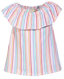 Toddler Girls Striped Flutter Top, Created for Macy's