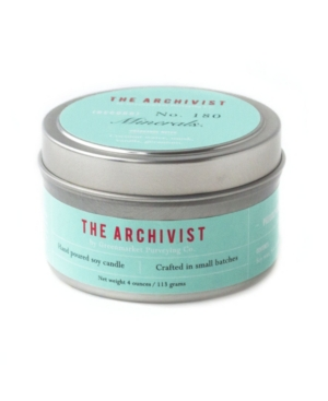 Archivist Minerals Soy Candle, 4 oz