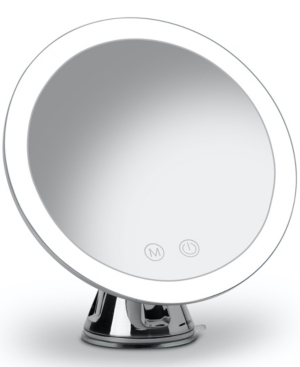 Fancii Lana Rechargeable 10x Magnifying Mirror With 3 Light Settings In White