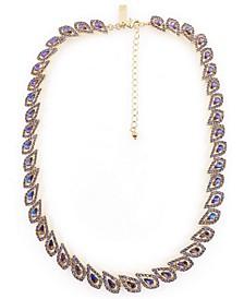 "Crystal Teardrop Orbital Collar Necklace, 18"" + 3"" extender, Created for Macy's"
