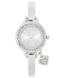 Women's Heart Charm Bangle Bracelet Watch 26mm, Created for Macy's