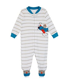 Baby Boys Airplane Footie