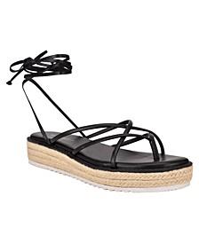 Women's Candid Strappy Tie-Up Espadrille Sandals