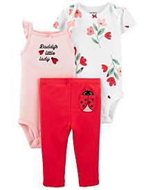 Baby Girls Ladybug Little Character Set, 3 Pieces
