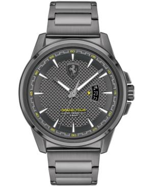 Men's Grand Tour Gray-Tone Stainless Steel Bracelet Watch 44mm