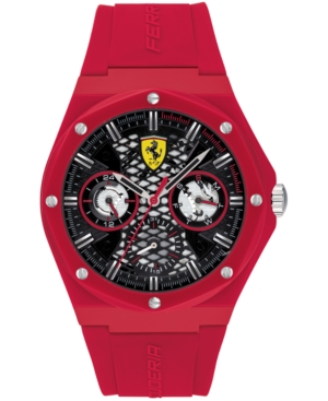 Men's Aspire Red Silicone Strap Watch 44mm