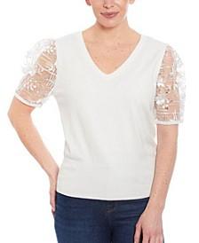Women's Mixed Media Sweater