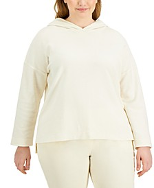 Plus Size Modern Lounge Hooded Top, Created for Macy's