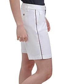 Malibu Piping-Trim Shorts