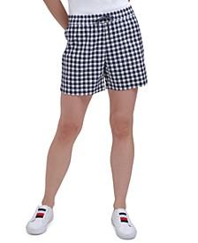 Cotton Gingham Shorts