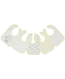 Baby Boys or Girls 5-Pack Printed Cotton Bibs