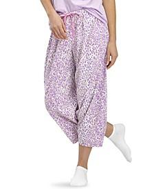 Animal-Print Capri Pajama Pants