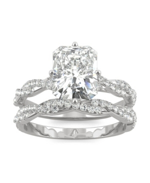 Moissanite Radiant Bridal Set 3-3/8 ct. t.w. Diamond Equivalent in 14k White Gold