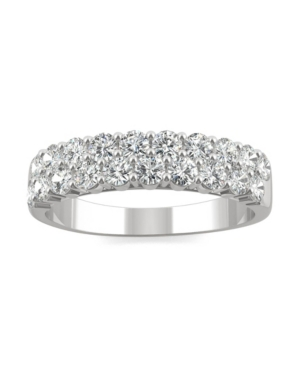 Moissanite Two Row Band 1 ct. t.w. Diamond Equivalent in 14k White Gold