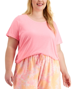 Plus Size Solid Pajama T-Shirt