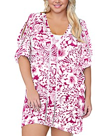 Trendy Plus Size Making Waves Tranquilo Caftan Cover-Up