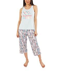 Summer Vibes Capri Pajama Set
