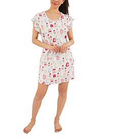 Popsicle-Print Sleep Shirt & Scrunchie Pajama Set